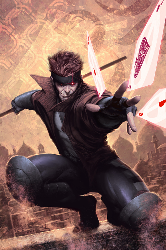 Gambit Comic Art Marvel art of the day